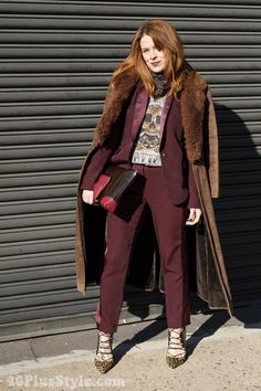 Burgundy and prints | 40plusstyle.com