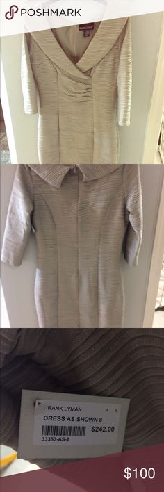Frank Lyman nwt boutique dress Lovely Frank Lyman elegant dress nwt. Purchased at a popular boutique.   Never worn frank lyman Dresses Long Sleeve