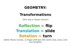 Math Transformations PowerPoint with moving graphics (refl
