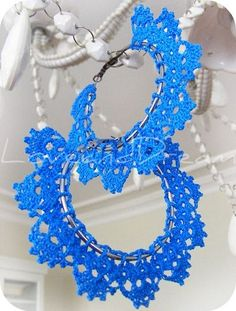 crochet hoop earings @Sue Lees  - how super cute!