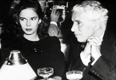 Charlie Chaplin and his last wife, Oona O'Neill, daughter of playwright Eugene O'Neill.