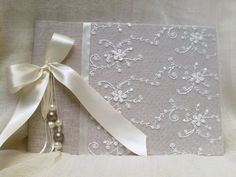 Lace guestbook  - unique wedding guestbook - romantic guest book - best bridal gift-guest sign book