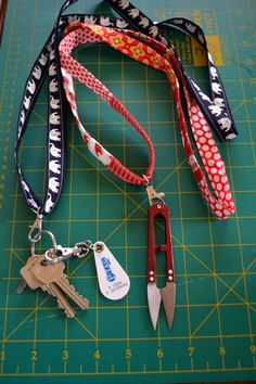 gemini stitches: Let's Get Acquainted Blog Hop - Fabric Lanyard
