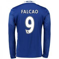 Chelsea 16-17 Radamel #Falcao 9 Hjemmebanesæt Lange ærmer,245,14KR,shirtshopservice@gmail.com