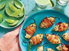 Party Poppers | Satisfy hungry houseguests with a spicy two-bite appetizer stuffed with chicken-cream cheese filling and wrapped in some hickory-smoked bacon.