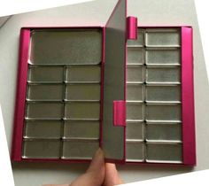 Watercolor Palette Double-sided Travel sketchbook pocket paint with magnetic removable pans business card size