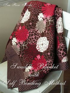 Tutorial for a self-binding swaddling blanket...I'm always looking for great baby shower gifts...love, love, love this!