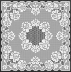 Filet Crochet Pattern / Ref. Filet Crochet, Crochet Diagram, Thread Crochet, Knit Or Crochet, Crochet Motif, Crochet Designs, Crochet Doilies, Holiday Crochet Patterns, Crochet Butterfly