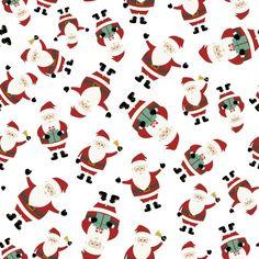 Fundo bonito do Natal com Papai Noel em posições diferentes Vetor grátis