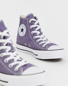 shoes sneakers converse Converse Chuck Taylor Hi purple sneakers Converse Chuck Taylor, Mode Converse, Purple Converse, Purple Sneakers, Converse All Star, Purple Shoes, High Top Sneakers, Ankle Sneakers, Converse Sneakers