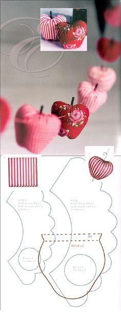 El toque que le falta a tu centro de mesa #manzanas #tela #costura