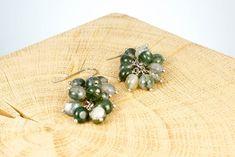 """Ohrschmuck """"Ocean"""" Fair Trade, Stud Earrings, Jewelry, Rhinestones, Beads, Ear Jewelry, Jewlery, Jewerly, Stud Earring"""