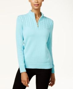 Karen Scott Cotton Zip-Up Sweater, Created for Macy's - Brown XXL