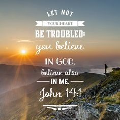 "Free Bible Verse Art Downloads for Printing and Sharing! bibleversestogo.com ""Let not your heart be troubled: ye believe in God, believe also in me."" John 14:1 #verseoftheday #DailyBibleVerse #Scripture #scriptureart #BibleVerse #bibleverses #bibleverseoftheday #Jesus #Christian #truth #Godlovesyou #life"