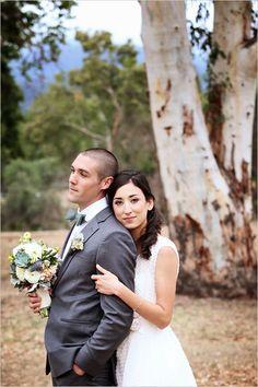 Romantic Santa Monica wedding with endless Swiss dot details. #weddingchicks Captured By: Kimberlee Miller Photography http://www.weddingchicks.com/2014/08/07/mint-and-white-wedding/