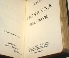 1950 Hosanna Catholic French Language Prayer Book Vintage Sheet Music Belgium
