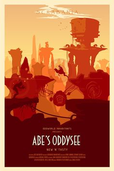 Abe's Oddysee Posters on Behance