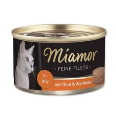 Miamor Delicious Filets  – Ton balığı ve Bıldırcın Yumurtalı Yetişkin kediler için tamamlayıcı mama Jöle içinde lezzetli fileto et. Özenle seçilmiş, yüksek kaliteli içeriklerle üretilmiştir.