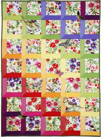 I love this, without the butterfly applique. Verity Quilt -Just in case you don't have enough to inspire you, this is a WHOLE PAGE full of free quilt patterns! by Michael Miller fabrics. Patchwork Quilt, Scrappy Quilts, Easy Quilts, Crazy Patchwork, Rag Quilt, Quilting Tutorials, Quilting Projects, Quilting Designs, Sewing Projects