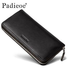 Handbags & Wallets - Padieoe New fashion men wallet genuine leather purse and handbags for male luxury brand black zipper men clutches free shipping - How should we combine handbags and wallets?