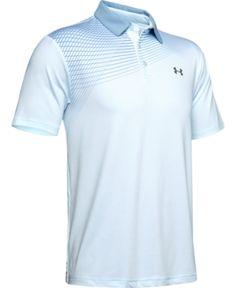 Under Armour Men's Shoulder Striped Playoff Polo - Blue XL Black Polo Shirt, Polo Blue, Sport Shirt Design, Tennis Tops, Sporty Look, Under Armour Men, Sports Shirts, Trendy Plus Size, Baby Clothes Shops