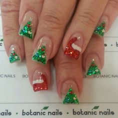 50 Beautiful Stylish and Trendy Nail Art Designs for Christmas Nail Art Designs, Holiday Nail Designs, Holiday Nail Art, Colorful Nail Designs, Xmas Nails, New Year's Nails, Great Nails, Cute Nails, Hair And Nails