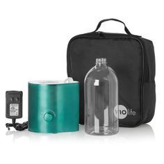 No heavy tanks and no filters to replace; Just insert any water bottle and go Core set includes a large-capacity refillable bottle and portable carrying case In