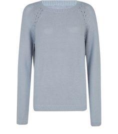 Vila Grey Knit Cut Out Jumper