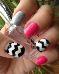 wouldnt do this myself, but i go to get them done by the pros.. i'm showing this pic  chevron nails