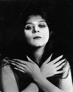 "Portrait of Theda Bara ""The Vamp"", 1910's"