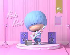 Brand Character, 3d Model Character, Character Art, 3d Design, Vector Design, Retro Girls, Digital Painting Tutorials, 3d Tutorial, Character Design Animation