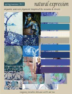 a color & texture study ~  SUMMER 2013 by Heather Sandwall, via Behance