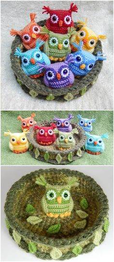 I have ghathered 20 crochet owl patterns-how to crochet owl patterns that wil realli inspire you!Nesting Rainbow Owls