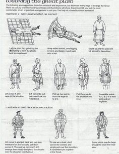 How to wear a Great Kilt.