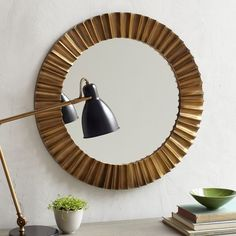 Pleated Mirror | West Elm.$ 249