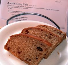 Traditional honey cake, made for Rosh Hashanah to ensure a sweet New Year but also prepared by honey-cake lovers for special occasions.