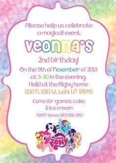 my little pony invitation paper ink design Pinterest Pony