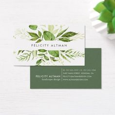 #white - #Wild Meadow | Botanical Business Card