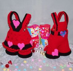 Valentine crochet patterns   Valentine Treasure Trousers PDF Crochet Pattern by FourBeesDesigns
