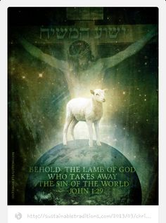 """BEHOLD THE LAMB! The next day John saw Jesus coming toward him and said, """"Look! The Lamb of God who takes away the sin of the world (John 1:29)! The Son of God came to destroy the works of the devil (1 John 3:8). He came to give us life and life more abundantly (John 10:10). During this time remember why we celebrate... it isn't for the clothes, the new hairstyle,a bunny, baskets filled with candy but because of the ultimate sacrifice and resurrection power of our Lord and Savior, Jesus…"""