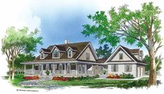Eplans Farmhouse House Plan - Porches Aplenty - 2316 Square Feet and 4 Bedrooms(s) from Eplans - House Plan Code HWEPL06956