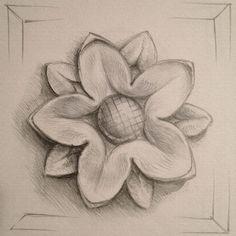 Sketch of rosette B, for inclusion in pediment.
