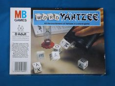 Vintage 1979 WORD YAHTZEE Family Dice Game by MB GAMES Great Complete Condition
