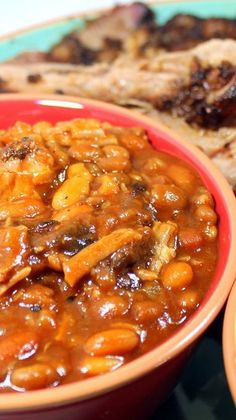 Smoked Pulled Pork and Beans