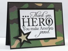 airbornewife's stamping spot: .. some more Hero cards... using Digi stamp