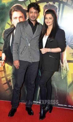 Aishwarya Rai Bachchan and Irrfan Khan at the trailer of 'Jazbaa' in Mumbai. #Bollywood #JazbaaTrailer #Fashion #Style #Beauty #Handsome