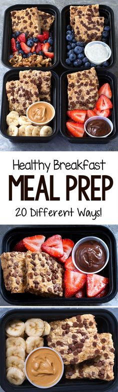 Whether you're meal prepping for weight loss or simply to have more time, these healthy breakfast meal prep options make weekday mornings a breeze! Easy Baking Recipes, Healthy Recipes, Cooking Recipes, Keto Recipes, Healthy Food, Vegetarian Food, Healthy Eating, Healthy Breakfast Meal Prep, Vegan Breakfast