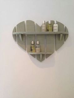 Handmade heart shelf, comes in a variety of colours and is £20 :) visit our etsy shop here: https://www.etsy.com/listing/185165984/handmade-shabby-chic-heart-shelf