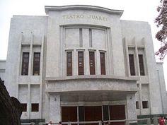 #Teatro #Juarez.En el año 1947 se decreta su refacción total, desapareciendo la antigua fisonomía para darle paso a una edificación innovadora la cual aún mantiene en su interior.