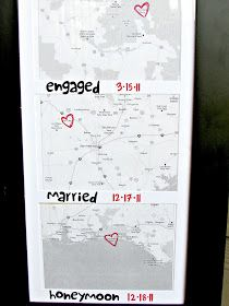 Limited Space Organizing: DIY: Places I've Been Picture Frame